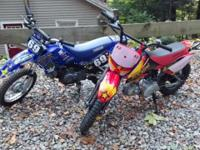 I am offering 2 youth sized dirtbikes. The first one is