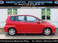(636) 486-1907 ext.739 Our 2008 Honda Fit Sport in Red