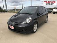 Black 2008 Honda Fit Sport FWD 5-Speed Automatic 1.5L