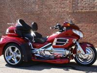 2008 Caliente Red Honda GL1800 TrikeLow Low Miles! Only