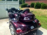 2008 Honda Gold Wing 1800, Black Cherry , low mileage,