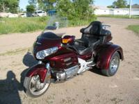We're selling a 2008 Honda Goldwing Trike. This is a
