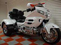 This 2008 Honda Goldwing Trike is road trip worthy with