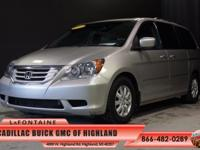 2008 Honda Odyssey EX-L in Silver Pearl Metallic. All