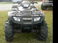 2008 Honda Rubicon 4wd, 4 wheeler for sale, 249 miles,