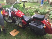 BEAUTIFUL METALLIC RED HONDA SHADOW AERO 750 WITH