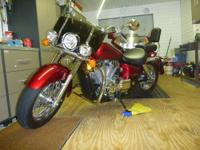 2008 HONDA SHADOW AERO VT 750 RED IN COLOR DOESN,T HAVE