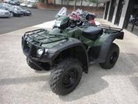 This Green 2008 Honda Trx500 is priced to sell and has