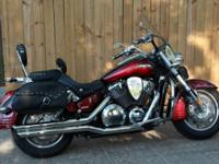 2008 Honda VTX1800T Maroon and black Motorcycle: $7200