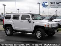 Options:  2008 Hummer H3|White|4 Wheel Drive! Hey! Look