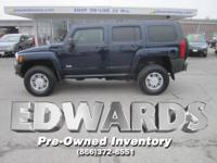 This 2008 Hummer H3 has a powerful 242hp, 3.7 liter, in