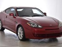Recent Arrival! This 2008 Hyundai Tiburon GT in Redfire