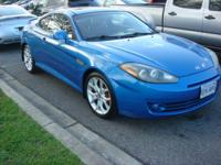 FULLY SAFETY INSPECTED, 4 New Tires, Tiburon GT, 2D