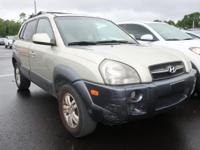 Clean CARFAX. Gold 2008 Hyundai Tucson SE 4WD 4-Speed