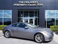 One owner**Clean Carfax**The 2008 Infiniti G37 Coupe's