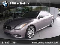 BMW of Mobile presents this 2008 INFINITI G37 COUPE 2DR