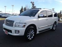 Clean CARFAX. 4WD, gray Leather. 2008 Infiniti QX56All