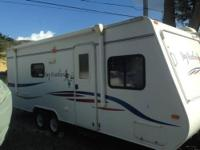 This is a very clean RV-travel trailer that we