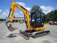 2008 JCB 8055RTS 11 660#MINI-X CAB 48HP 13'Dig Depth