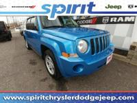 Extremely sharp! 4 Wheel Drive!! This 2008 Jeep Patriot