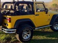 2008 Jeep Wrangler 4x4, 3.8 v-6, 6-speed man., a/c,