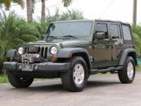2008 JEEP WRANGLER 4X4 UNLIMITED X WITH 8000 POUNDS