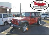 4WD. Talk about fun! All smiles! This 2008 Wrangler is