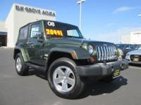 4WD Sahara design. This 2008 Wrangler is for Jeep nuts