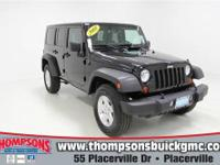 This 2008 Jeep Wrangler 4 Door Unlimited X firmly
