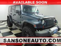 Blue 2008 Jeep Wrangler Unlimited Sahara 4WD 4-Speed