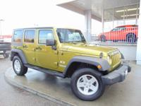 Options:  2008 Jeep Wrangler Unlimited X|Green/Black|V6