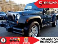 CARFAX One-Owner. Blue 2008 Jeep Wrangler Unlimited X