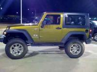 2008 Jeep Wrangler X 4x4 Rescue Green 50488 mls 2 door
