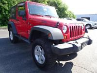 2008 Jeep Wrangler X Red 4WD 3.8L V6 SMPI 6-Speed