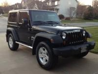 I have a black 2008 Jeep Wrangler X for sale. It has