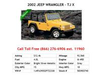 2008 Jeep Wrangler X X SUV Steel Blue Metallic V6 3.8L