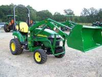 for sale is a like new John Deere 2305 4x4 tractor,this