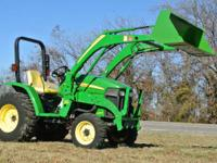 the John Deere 3203 comes equipped with the John Deere