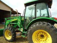 2008 John Deere 5525 4x4 tractor with cab a/c power