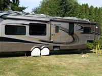 "2008 fully loaded, 39'11"" 5th wheel, used once, above"