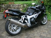 21,490 miles. Remarkable German sportbike with a riding