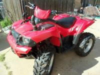 08 Kawasaki - ATV 750cc 4X4 Independent Suspension,