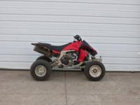 2008 Kawasaki KFX450R is in good condition. The atv is