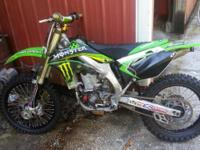 Very Fast 2008 Kawasaki KX 450 f motorcycle. The bike