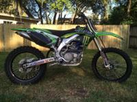 2008 Kawasaki KX450f four stroke motorcycle. The bike