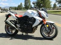 2008 Kawasaki Z1000 Bone stock. Still under factory