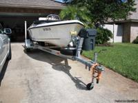 "2008 15'2"" Key West boat model 152CC with 50 hp"