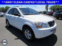 New Price! CLEAN CARFAX, LOCAL TRADE, Sorento LX, 4D