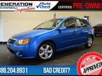 Spectra5 SX, 4D Hatchback, Blue, and 2008 Kia Spectra5.