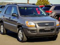 Clean CARFAX. Gray 2008 Kia Sportage LX 4WD 4-Speed